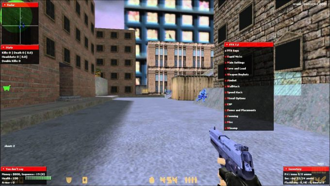 Fighter FX 7.2 hack for CS 1.6