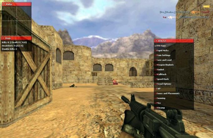 Fighter FX 7.2 hack for CS 1.6